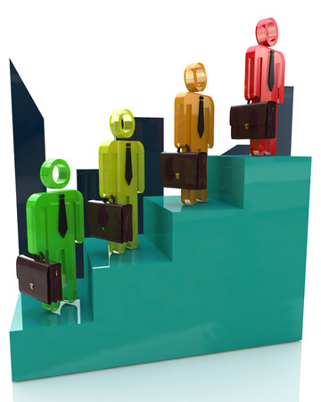 Career growth, Career development, Career advancement, Business staircase