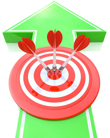 Arrow sign and target - marketing concept photo