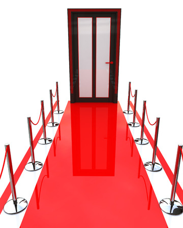 red carpet and closed door photo