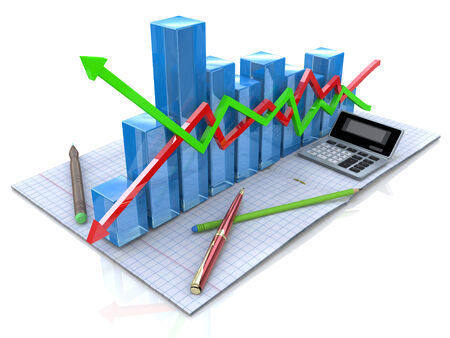 analytic: New business plan, tax, accounting, statistics and analytic research Stock Photo
