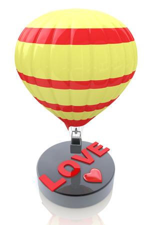 balon: Balloon with the word Love - Valentine Stock Photo