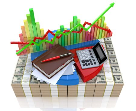 financial market: Business calculation - analysis of financial market Stock Photo