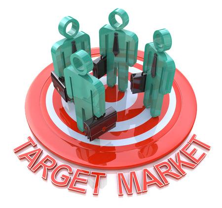 Target market. marketing concept photo
