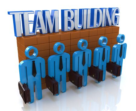 building color: Characters 3d people - Team building