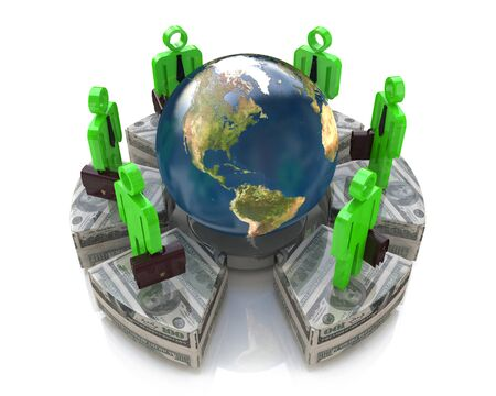 world economy: Global investment concept