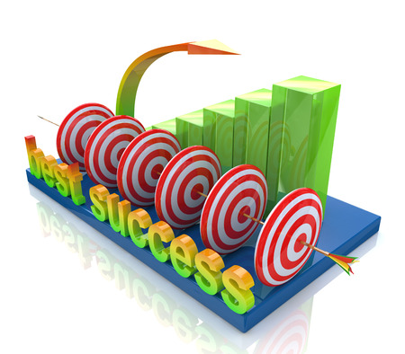 successes: best success in the design of information related to various successes Stock Photo