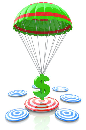 financial target: financial target for the design of information related to the business objectives Stock Photo