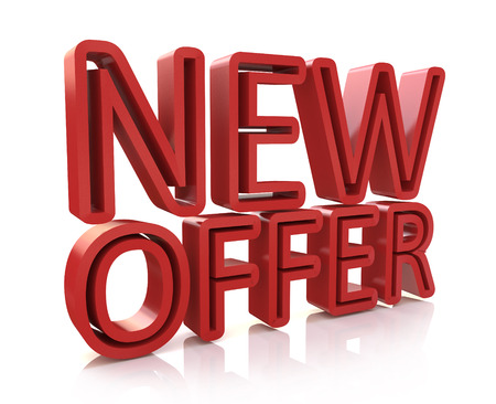 3D new offer word in the design of information related to the creative marketing