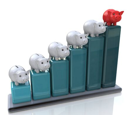 banco dinero: Conceptual gr�fico huchas en el dise�o de la informaci�n relacionada con la banca