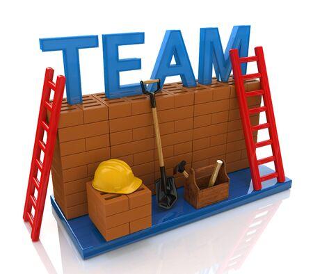 La formación de equipos en el diseño de la información relacionada con la creación de equipos de negocios Foto de archivo - 53183656