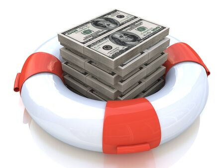 lifeline: lifebuoy and money in the design of the information related to finance and business
