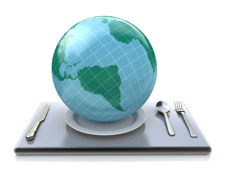 of food: The world on plate in the design of the information related to global change