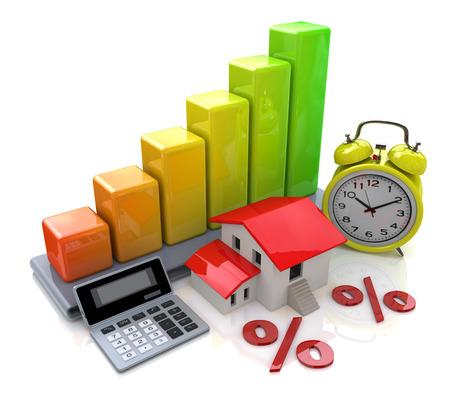 ビジネスや不動産に関連する情報へのアクセスのデザイン プロパティ借入金等利息 写真素材
