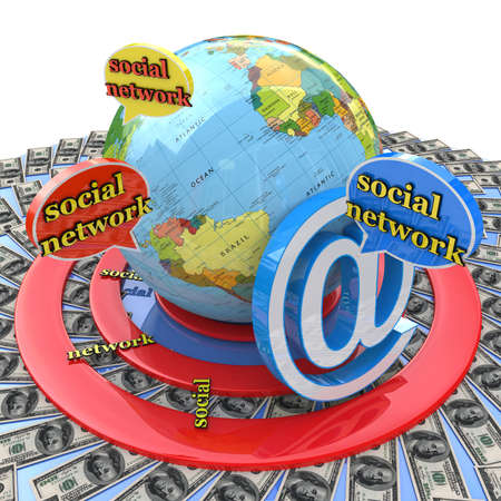 financial target: financial target social network for information related to the business on the Internet