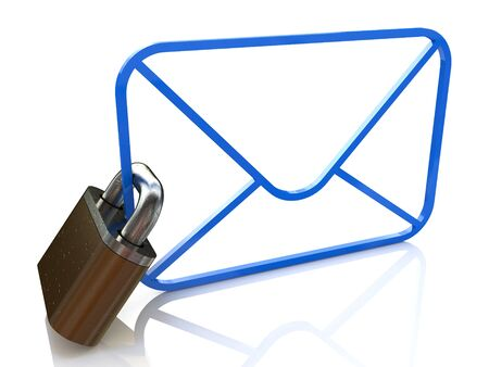 email security: E-mail Security in the design of the information related to the Internet and data protection Stock Photo