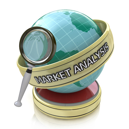 market trends: Global market analysis: Market trends in the design of information related to business Stock Photo