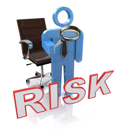heavy risk: Risky Character Showing Dangerous Hazard Or Risk in the design of information related to business