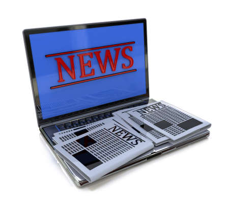 online news: Laptop and news in the design of the information related to the online news