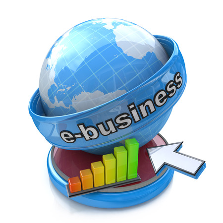 webhosting: Online Business Concept in the design of access to information relating to business and commerce Stock Photo