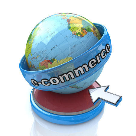 e-commerce in the design of access to information relating to business and commerce Stock Photo