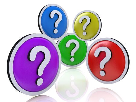 icona: faq or question marks in the design of the information related to the Internet