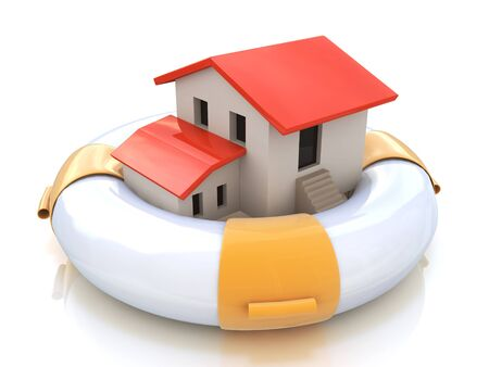 home owner: House insurance home owner protection from mortgage interest rates as a home in a lifesaver and real estate financial and structural risk as security from hazards like flooding fire and burglary