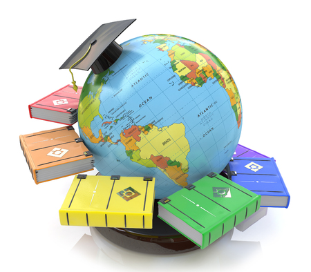 3d illustration of Education in the design of the information related to education and acquisition of knowledge