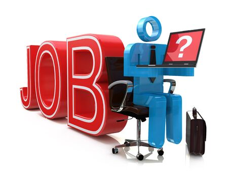 temporary workers: Businessman Internet Online Job Search application Concept in the design of information related to employment through a worldwide network