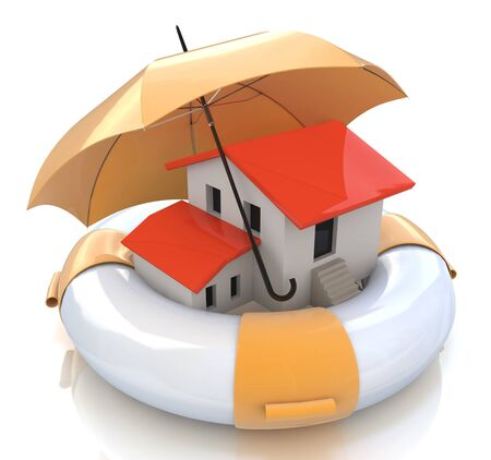 home owner: House insurance home owner protection from mortgage interest rates as a home. Real estate financial and structural risk in the design of information related to forced support Stock Photo