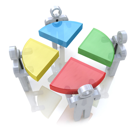 bussines people: Bussines chart and people. Teamwork concept. 3d render in the design of information related to teamwork