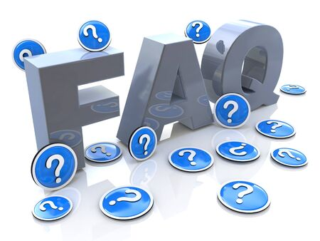 asked: FAQ frequently asked questions in the design of information related to solving problems Stock Photo