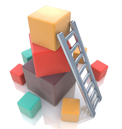 build up: build up concept in the design of the information related to the development or progress Stock Photo