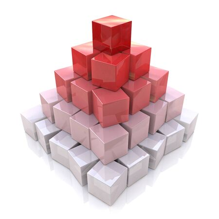 multilevel: Pyramid levels of cubes in the design of the information associated with the abstraction of leadership