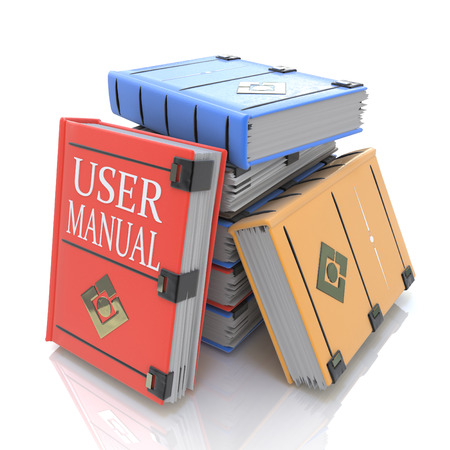 User manual books in the design of related information to give answers to questions