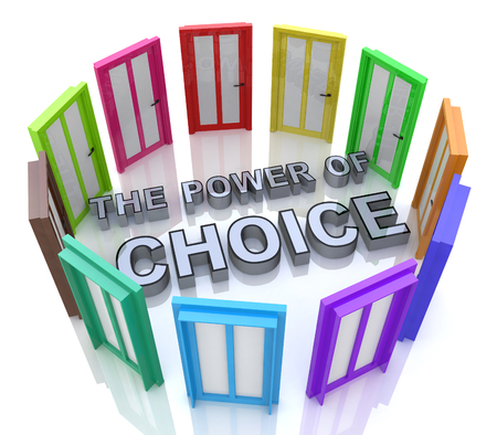 Power of Choice Many Doors Opportunity Decide Best Option in the design of the information related with the selection