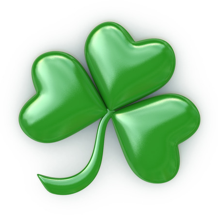 three leaved: Clover with three leafs - Patricks day in the design of the information associated with a symbol of luck