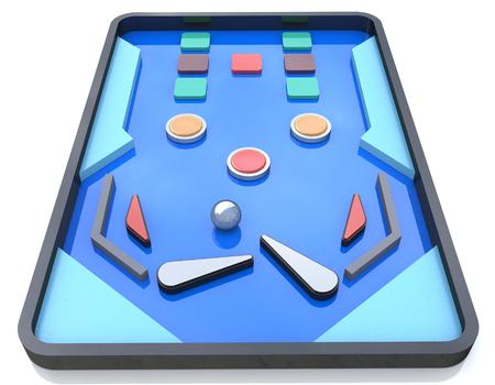 ピンボール倒し、ピンボール ゲーム、レトロなゲームに関連する情報のデザインのピンボール テーブル