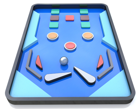 Pinball Playfield, Pinball game, Pinball table in the design of the information related to the retro game