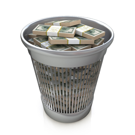 regress: Dollars in the trash bin in the design of information related to business