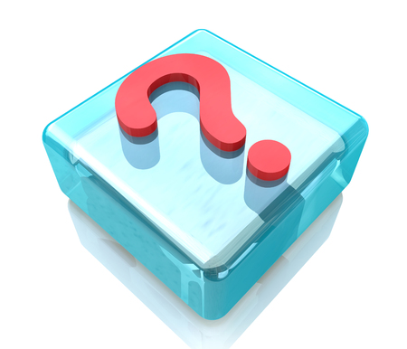 asked: glass icon question mark - FAQ in the design of information related to the issues and problems Stock Photo