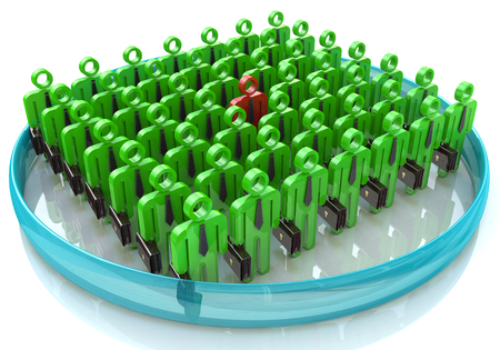 Stand Out From The Crowd - The concept of leadership in business in the design of information associated with the leader