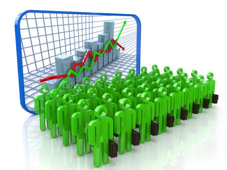 desarrollo económico: La gente de negocios que tienen presentación sobre el desarrollo económico en el diseño de la información relacionada con los negocios y la economía