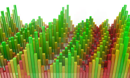 diminishing view: colorful abstract cubes in the design of the information required to design and abstraction