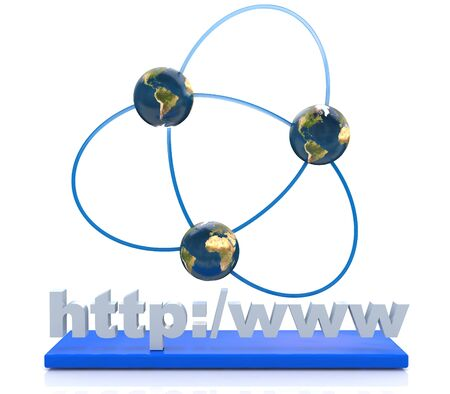 http: Internet connection in the design of information related to the Internet and communication Stock Photo