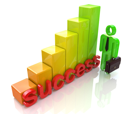 Chart success in the design of information related to business and economy Stock Photo