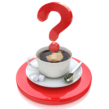 cup of coffee and a question for the design of information related to the resolution of problems