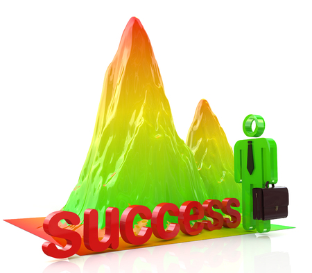mountains of success in the design of information related to the success and achievements