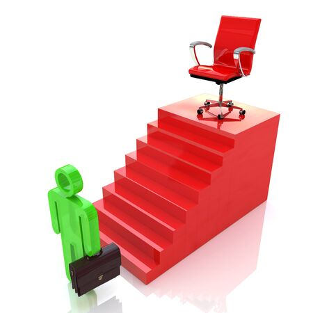 Career Ladder. Motivation of professional growth in the design of information related to career and people