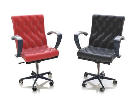 Twee bureaustoelen in het ontwerp van informatie met betrekking tot zaken Stockfoto