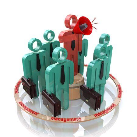 Equipo de gestión de los trabajadores de oficina en los negocios en el diseño de información relacionada con la comunicación y el negocio Foto de archivo - 82455151